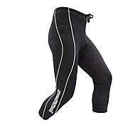 Jaggad Spring Summer Autumn Black Nylon Spandex Rubber Print Padded 3/4 Cycling Pants