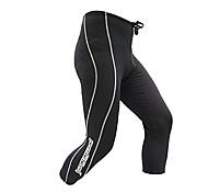 Jaggad Primavera Verano Otoño Negro Nylon Spandex Caucho Imprimir acolchado de 3/4 pantalones de ciclismo