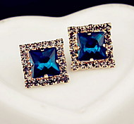 Stud EarringsJewelry 1 pair White / Blue Gem Daily / Casual