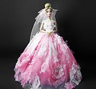 Corte Princesa Vestidos por Muñeca Barbie Rosa Vestidos