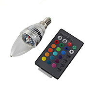 3W E14 Luces LED en Vela C35 1 LED de Alta Potencia 240 lm RGB Control Remoto / Decorativa AC 100-240 / AC 110-130 V 1 pieza