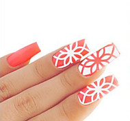 Hollow Laser Sticker PVC Flower Nail Jewelry