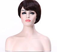 новое прибытие коричневые короткие прямые волосы парики сексуальные для ежедневных физических синтетические парики