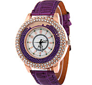 Lady's Leather Band Analog Quartz Beads Case Fashion Watch Jewelry Cool Watches Unique Watches
