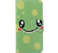 Green Smile Painted PU Phone Case for Huawei P9/P9lite