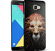 3D Relief Graphic Pattern Fashion Silicone Material Back Cover for Samsung Galaxy A9
