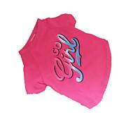 Perros Camiseta Rosado Ropa para Perro Verano Letra y Número Moda