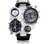 Men's Watch v6 Multi-Belt Movement Quartz Watch Compass Multifunction Double Movement When The Two Wrist Watch Cool Watch Unique Watch