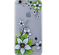 TPU Material Glow in the Dark Translucent Green Flower Relief Soft Protection Phone Case for iPhone 5/5S/SE
