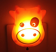 Creative Warm White Cow Light Sensor Relating to Baby Sleep Night Light(Random Color)