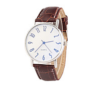 Men's European Style Fashion New Hot Blue Glass Leather Quartz Wrist Watch Cool Watch Unique Watch
