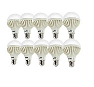 3W E26/E27 Bombillas LED de Globo A50 6 SMD 5630 200 lm Blanco Cálido / Blanco Fresco Decorativa AC 100-240 V 10 piezas