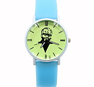 Women's Fashionable  Leisure Originality Noctilucent Silicone  quartz watch