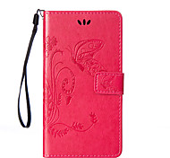 For HTC Desire 820/816/626/One M9/One M8 Flowers Butterfly Pattern Inside and Outside Printing Holder PU Leather Case