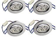 3W Luci a sospensione 3 LED ad alta intesità 300 lm Bianco caldo Decorativo AC 85-265 V 4 pezzi