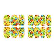 Flor de la fluorescencia de frutas y joyas de uñas alces