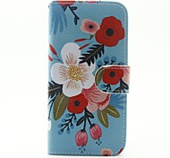 For Samsung Galaxy Case Card Holder / with Stand / Flip / Magnetic / Pattern Case Full Body Case Flower PU Leather SamsungA5(2016) /
