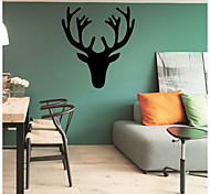 Wall Stickers Wall Decals Style Antlers PVC Wall Stickers