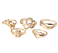 HUALUO®Five-piece Love ring, elegant rings Ms. holiday gifts