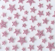 Lovely Pink Western Style Star 3D Nail Stickers