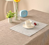 Solid Table Cloth Fashion Hotsale High-grade Cotton Linen Square Coffee Table Cloth Cover Towel