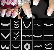 18 листов / комплект французский маникюр ногтей поделки подсказки искусства направляющие наклейки трафарета полосы