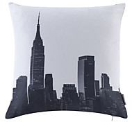 Polyester Pillow With Insert,Cities Modern/Contemporary 18x18 inch