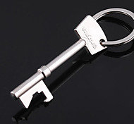 Stainless Steel Key Opener Key Shape Chain Ring Keyring