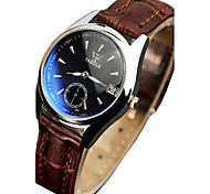 YAZOLE 306 Men Fashion Casual Luminous Hands Calendar Leather Quartz Watch montre homme wristwatch Wrist Watch Cool Watch Unique Watch