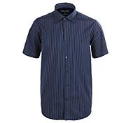 JamesEarl Men's Shirt Collar Short Sleeve Shirt & Blouse Blue - M21X5000504