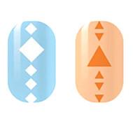 White/Orange Hollow Nail Stickers