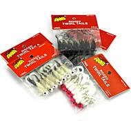 """7pcs/pack pcs Kits de leurre Others 1.75g/pc g/1/18 Once,44.2mm/pc mm/1-5/8"""" pouce,Plastique souple Pêche d'appât / Pêche au leurre"""
