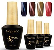 azur 4 pièces / lot gel yeux de chat magnétique vernis magnétique clou gel set polish (# 51 + # 52 + # 53 + # 55)