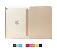 Ultra Slim Magnetic Smart Cover Leather Case with Matte translucent back case for iPad Pro 9.7