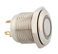 16mm 3V Blue LED Momentary Push Button Metal Switch for Car