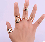 HUALUO®Europe embraced Five piece Ring Fashion Jewelry