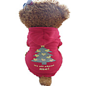 Dog Hoodie Red / Black Winter Christmas Christmas