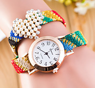 Women's  The Characteristics Of Wind Peach Weaving Love Watch (Assorted Colors)