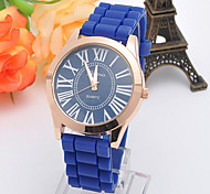 Women's Fashion Silicone Rubber Tape Analog Display Quartz Watch(Assorted Colors)