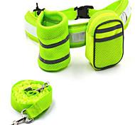 Cães Trelas / Embalagem de Cintura Refletor / Retratável / Corrida / Sensor Cinzento Téxtil