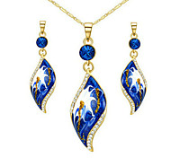 Alloy / Zircon Jewelry Set Necklace/Earrings Wedding / Party / Daily / Casual / Sports 2pcs