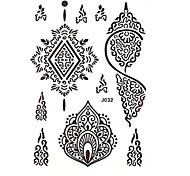 Séries Flores / Séries Totem / Outros - none - Tatuagem Adesiva -Non Toxic / Estampado / Tamanho Grande / Tribal / Lombar / Waterproof /