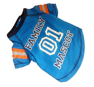 Dog Shirt / T-Shirt / Jersey / Sweatshirt Blue Dog Clothes Summer Sport Cosplay