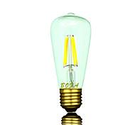 Bombillas LED de Globo Regulable / Decorativa NO ST58 E26 / E26/E27 3W 4 COB 200-300 lm Blanco Cálido AC 100-240 V 1 pieza