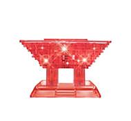 Пазлы 3D пазлы Хрустальные пазлы Строительные блоки Игрушки своими руками Китайская архитектура ABS Серебристый Модели и конструкторы