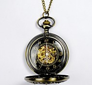 Unisex Pocket Watch New Machinery Exquisite Fashion Flower Flip Pocket Watch With Black Face