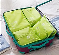 Travel Bag / Packing OrganizerForTravel Storage / Luggage Accessory Fabric Grey / Blue / Green / Pink,5 Sets