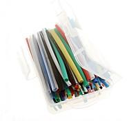 com kit de cabo de fio envoltório tubo de tubos com contração térmica sleeving caixa de rtail 140pcs