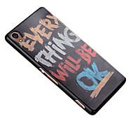 3D Relief Graphic Pattern Fashion Silicone Material Back Cover for Sony Xperia Z3