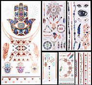 Séries de Jóias / Séries Animal / Séries Flores / Séries Totem / Outros-Unbranded-Tatuagem Adesiva-Non Toxic / Estampado / Halloween /